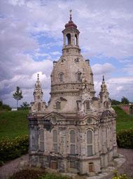 Die Dresdner Frauenkirche in der Miniwelt