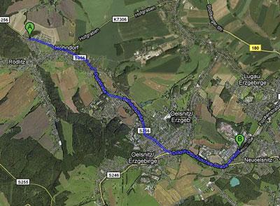 Route zum Bergbaumuseum